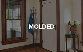 """Versatile craftsmanship for a range of interior needs, these high-density painted doors offer style &amp; character in a range of designs.<br> <a href=""""http://www.lyndendoor.com/molded-doors/"""">Learn More About Molded Doors &gt;&gt;</a>"""
