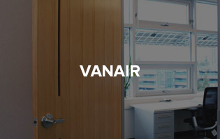 """Introducing the VanAir Ventilated Door, a stylish and modern take on room to room ventilation without compromising sound control.<br> <a href=""""http://www.lyndendoor.com/vanair/"""">Learn More About VanAir &gt;&gt;</a>"""