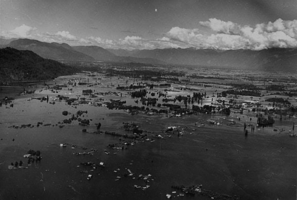 1948 Fraser River overflows its banks and floods the valley.