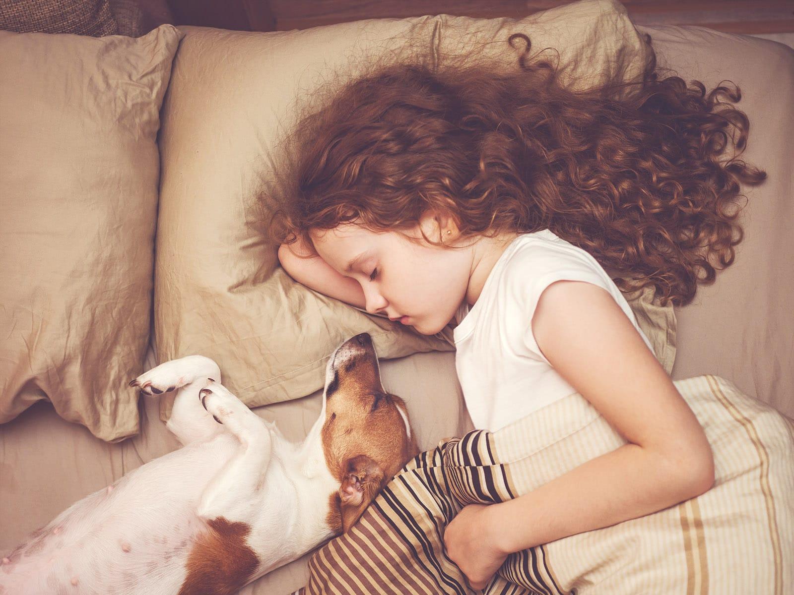 VanAir dog and girl